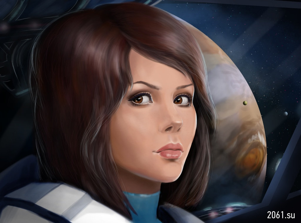 2. Девушка космонавт