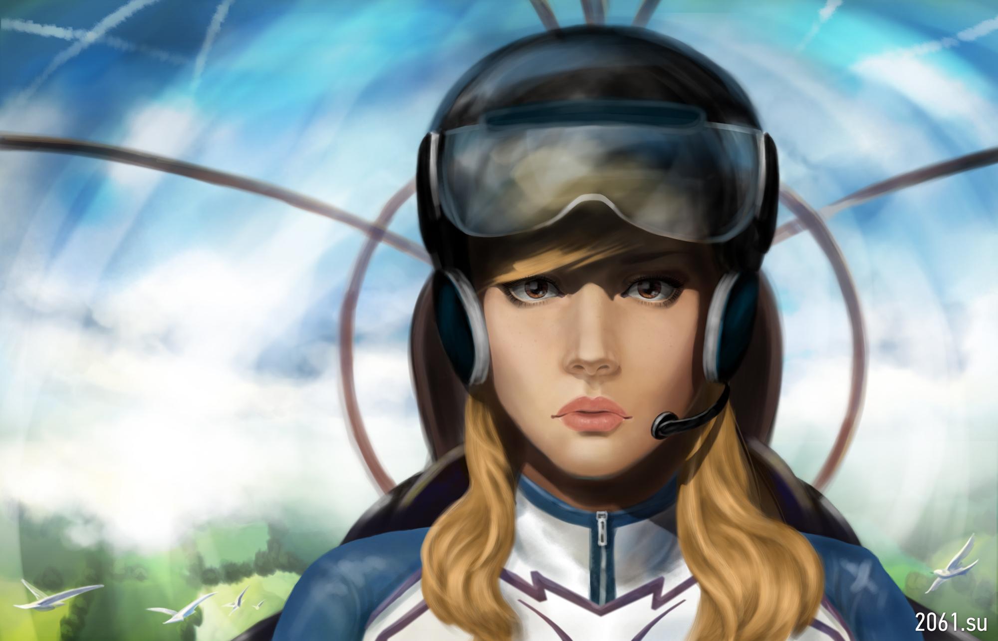 Фото девушки летчика